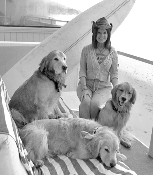 Mary and her dogs